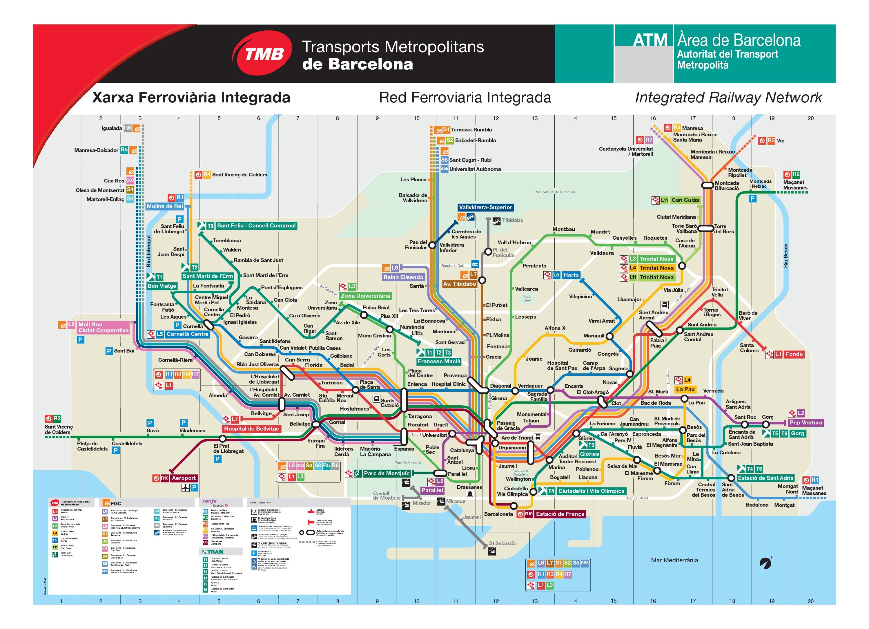 Plan Pdf Barcelone Plan de Barcelone