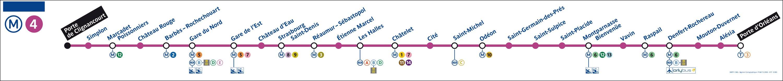 Municipales 2014 paris m tro parisien la ligne 4 va tre automatis e - Metro porte de clignancourt ...