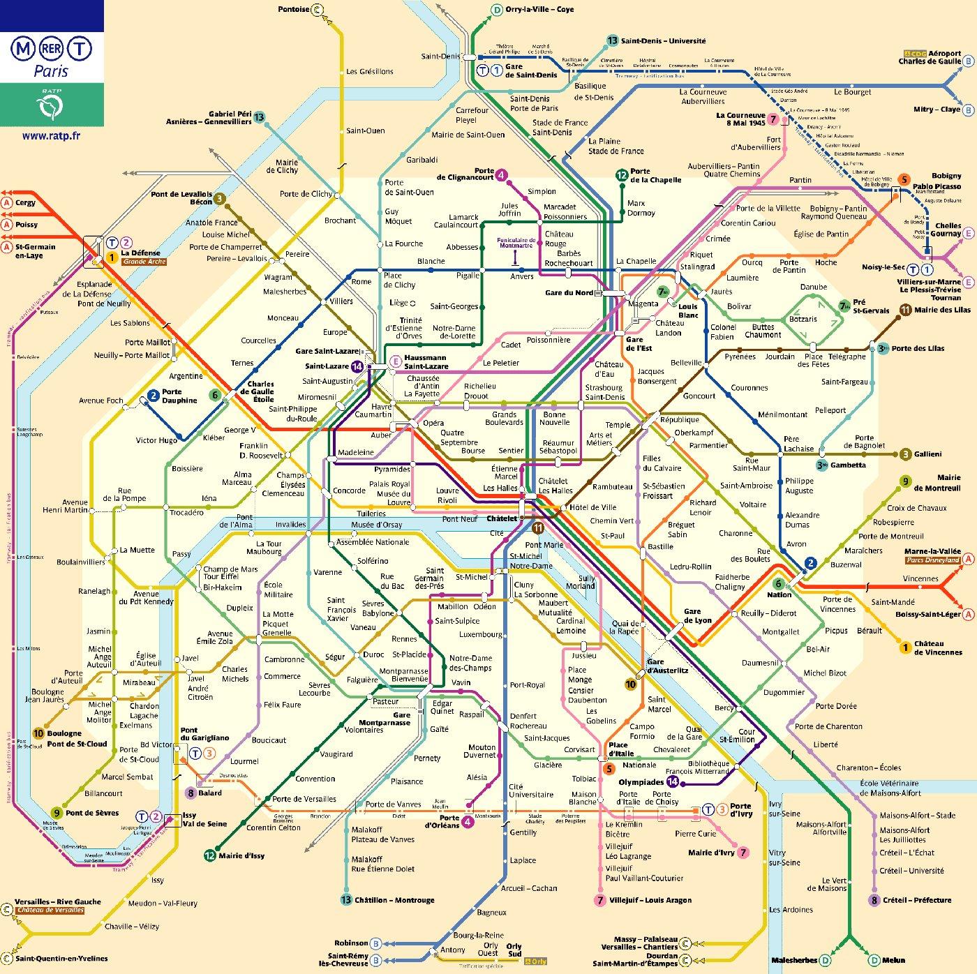 Plan du métro de paris le site de tous les plans de métros