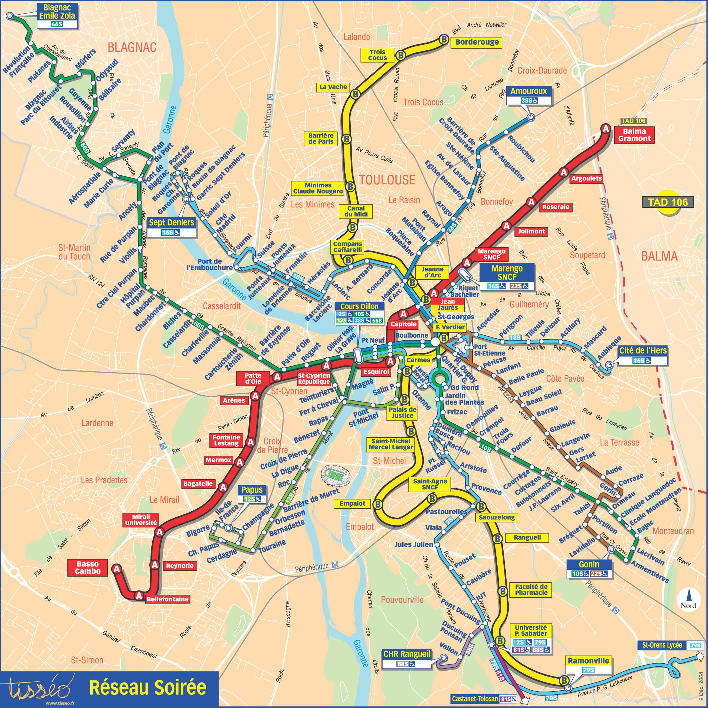 Grand Plan De Ville Toulouse
