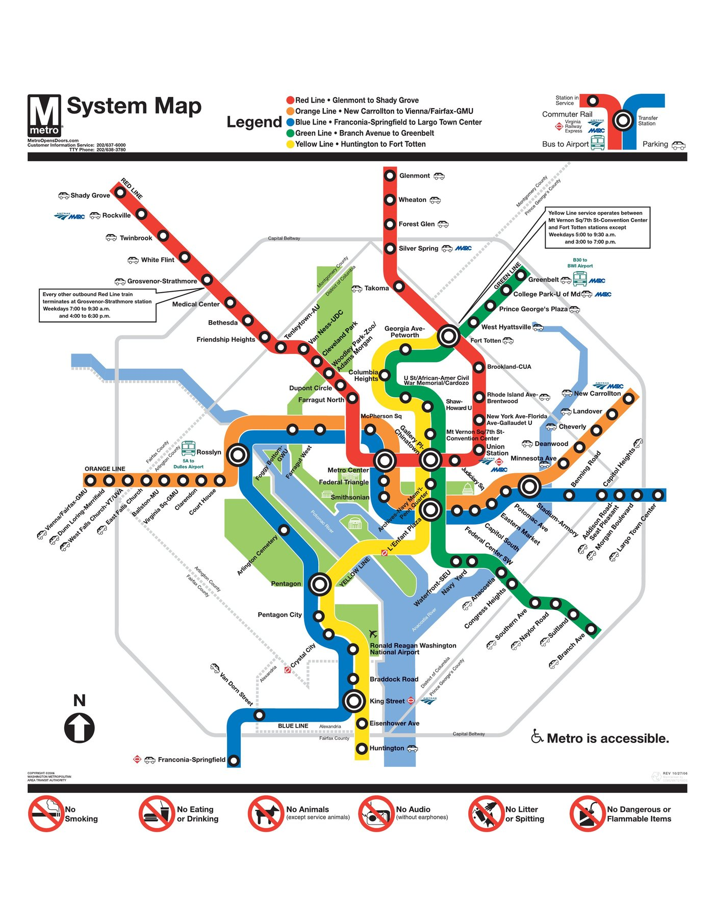 Carte Metro Washington Subway Application